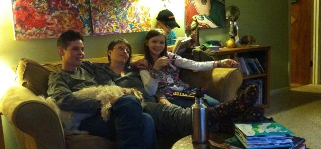 Christmas in Black Mountain, North Carolina, with Deena, Lisa, Zoe and Noah