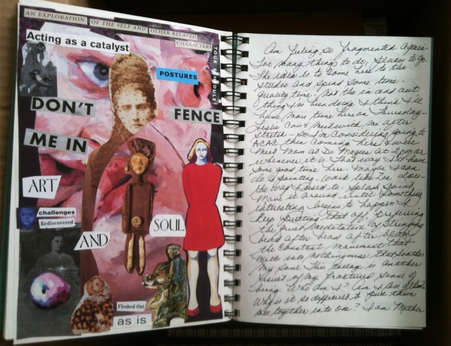 A  Journal collage and some writing.